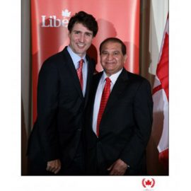 Eximcan Canada CEO, Mr. Mike Mehta with Honorable The Prime Minister of Canada, Justin Trudeau