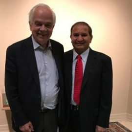 Our CEO, Mr. Mike Mehta with Hon John McCallum, Canadian Ambassador to China