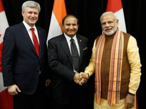 Our CEO, Mike Mehta with Prime Minister of India Hon.Mr. Modi and Former Prime Minister of Canada, Stephen Harper