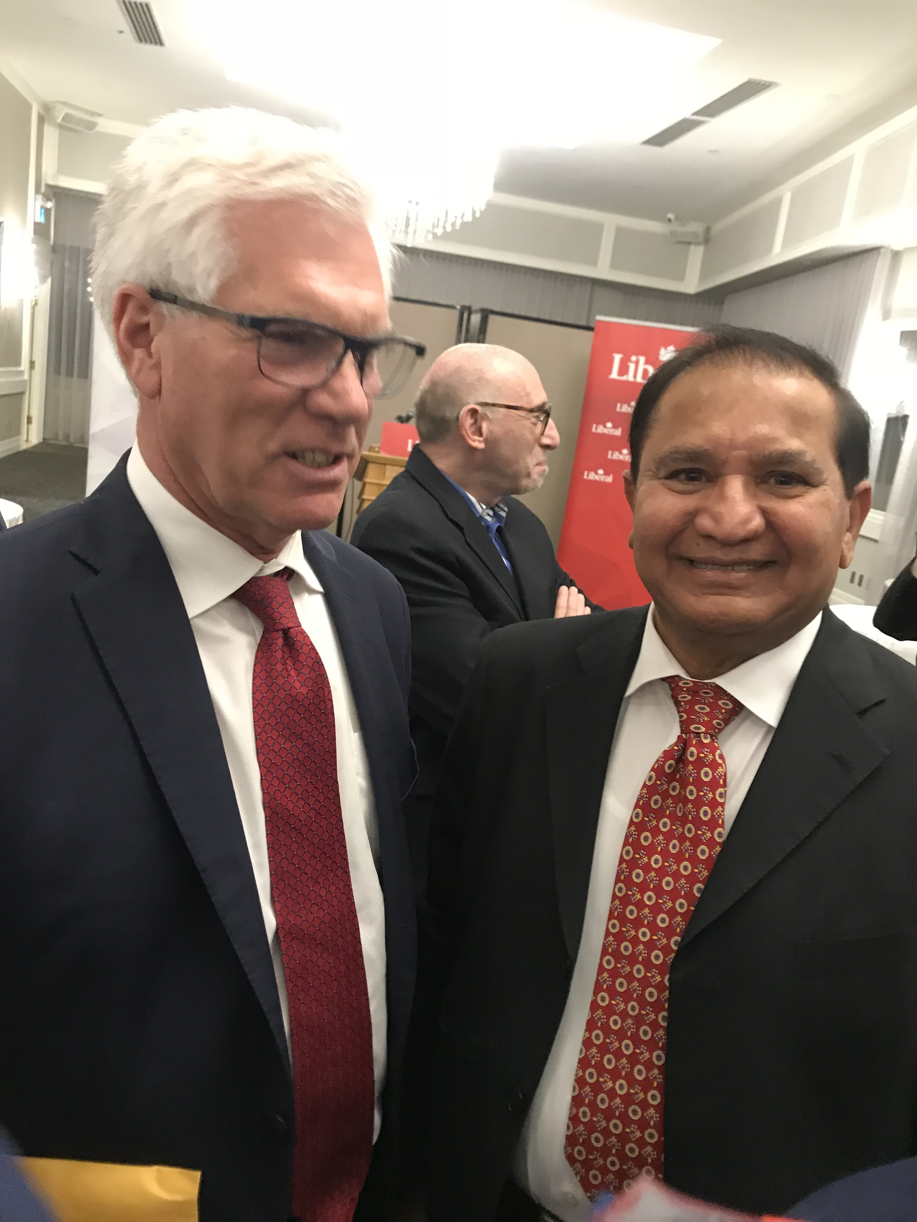 Our CEO Mike Mehta with Minister of International Trade Diversification, Honorable Jim Carr